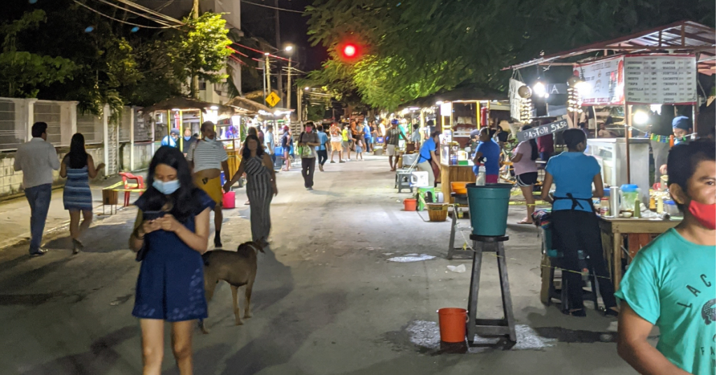 Where to eat in Tulum: Calle Sol Ote street food