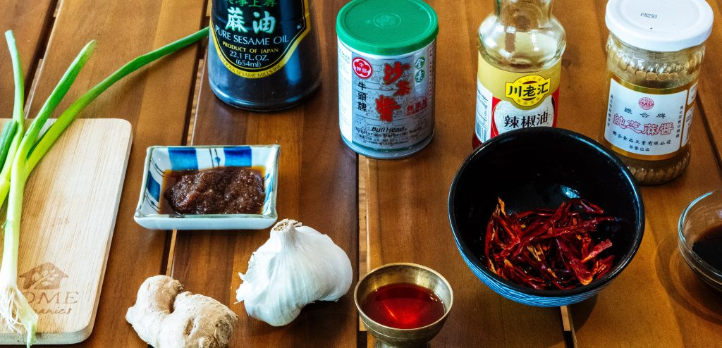 How to make Chinese hot pot at home: dipping sauce station
