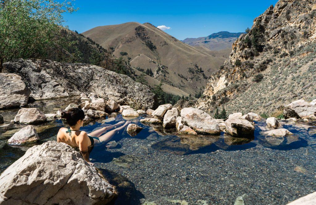Goldbug hot springs Salmon, Idaho