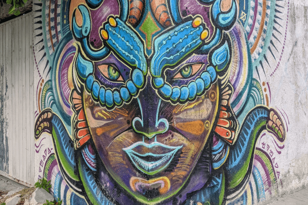 Tulum Street Art: Warrior