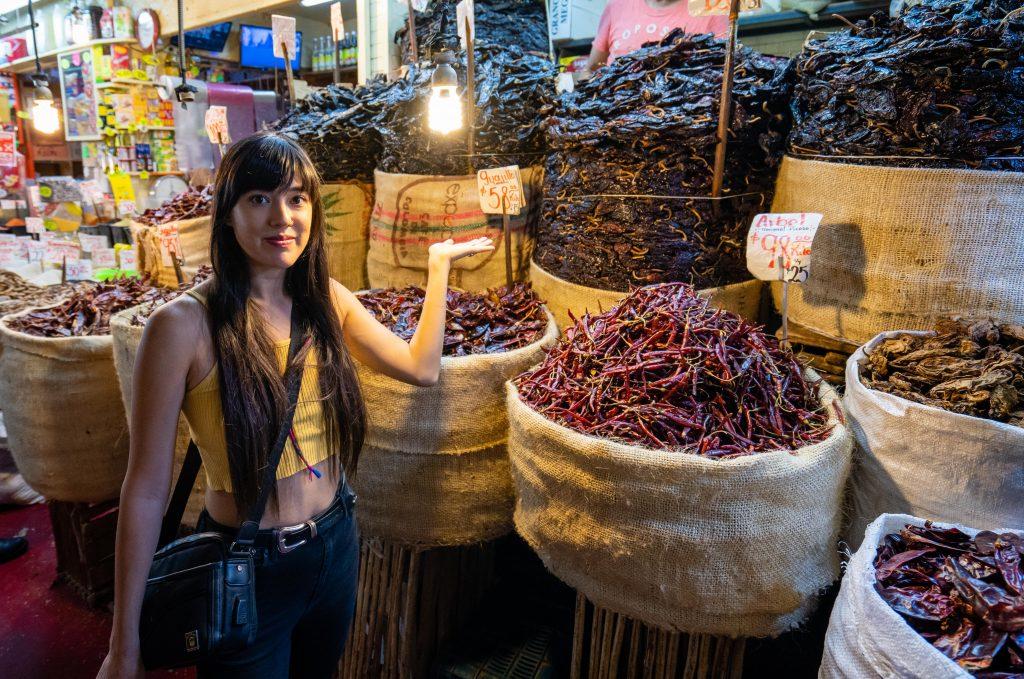 Best markets in Mexico City | Mercado La Merced | Chili tower!
